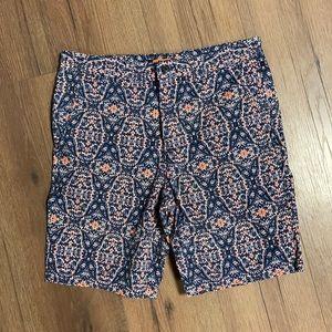 Joe Fresh Kaleidoscope Print Flat Front Shorts